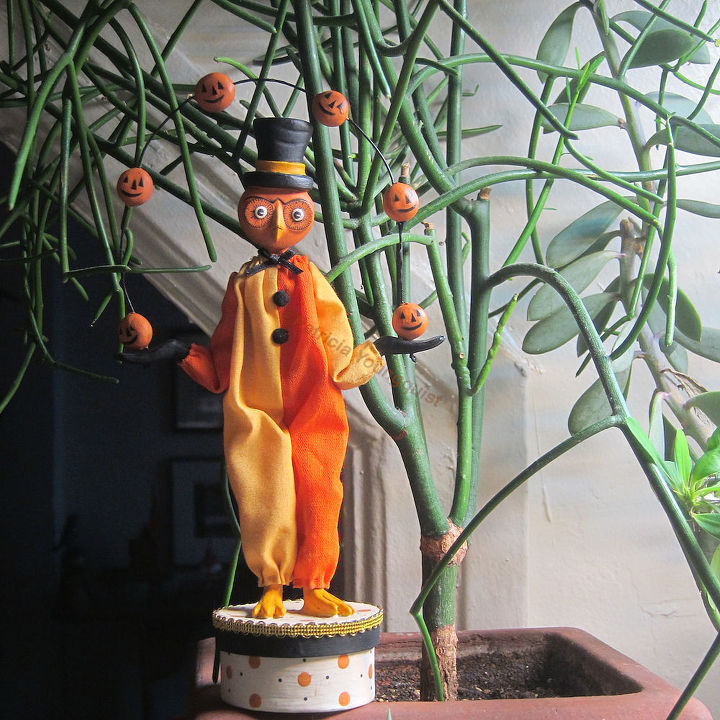The JUGGLER with PENCIL CACTUS in my SUCCULENT GARDEN.