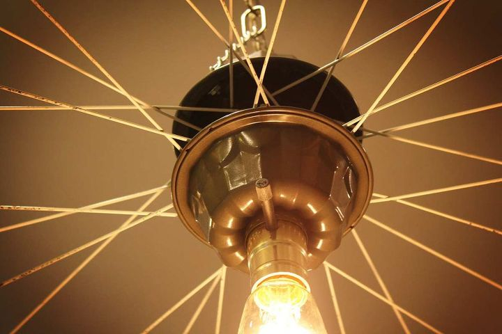 Top Repurposed Upcycled Bicycle Rim Pendant Hanging Light | Hometalk DV16