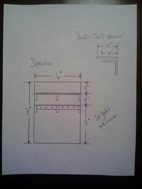 custom shelves in palmer park, painting, shelving ideas, woodworking projects