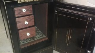 q old safe now what, painted furniture, repurposing upcycling, I found this photos on the Facebook page of Matt s Antique Safe Restoration