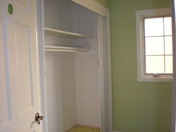 This is the wall that the bed is now on...we moved the closet to the other side.