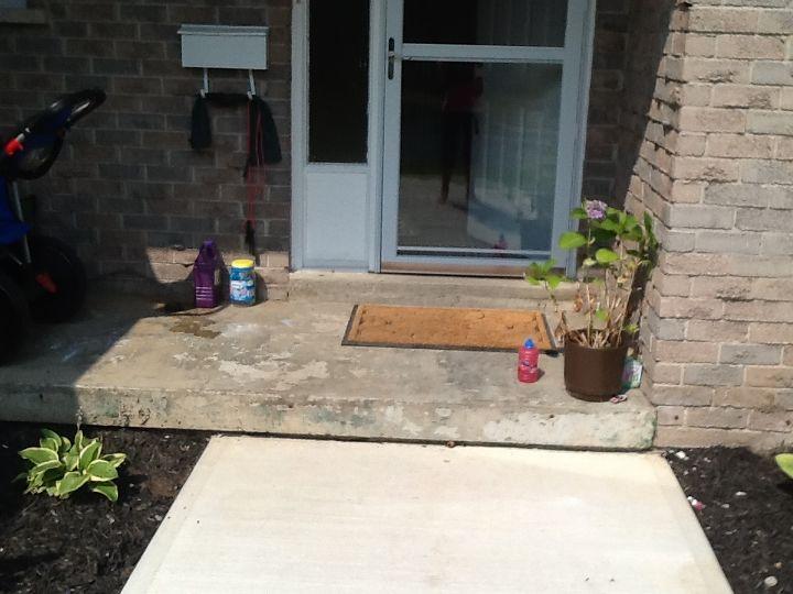how to fix this concrete step, concrete masonry
