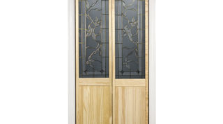 how to install a door for an open room, doors, Glass panel bi fold doors