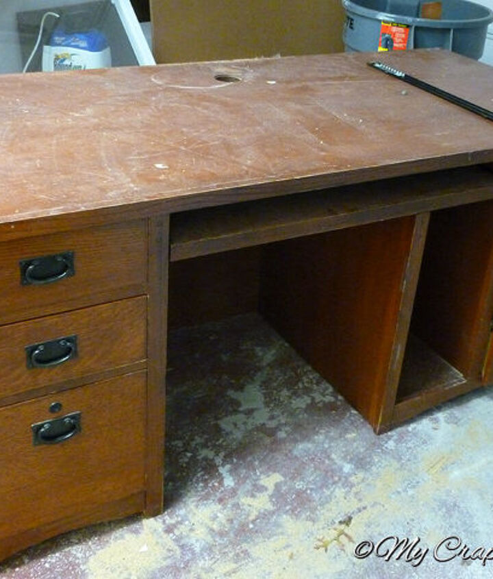 This sad (massive!) desk was in need of a makeover