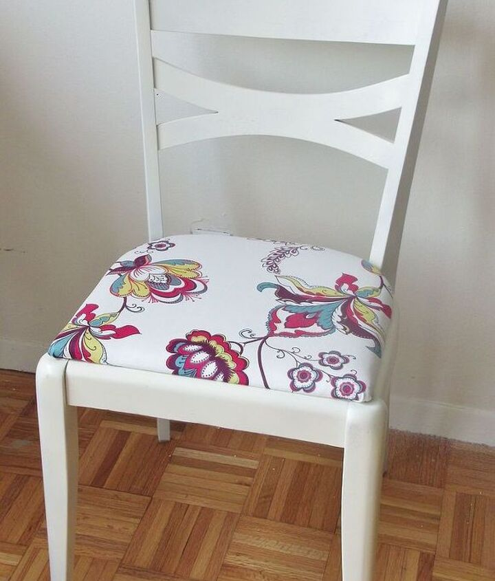 painting and reupholstering a chair, painted furniture, reupholster