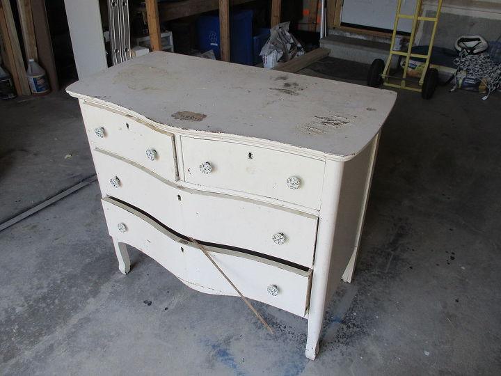 refinished vintage dresser, painted furniture