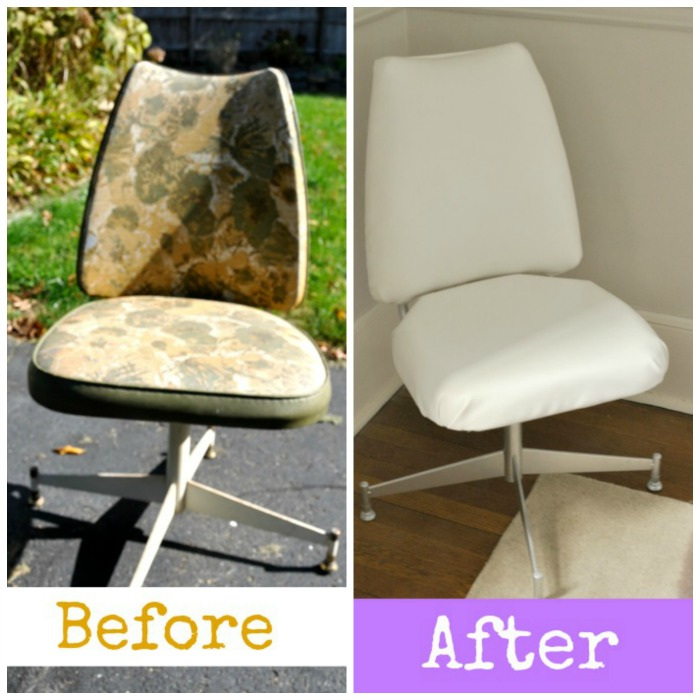 Trash To Treasure Desk Chair Makeover Painted Furniture