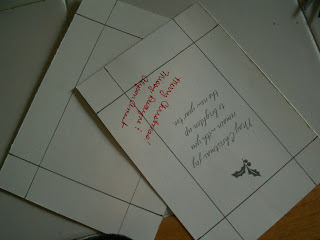 Separate the 2 sides of the card and make your measurements.