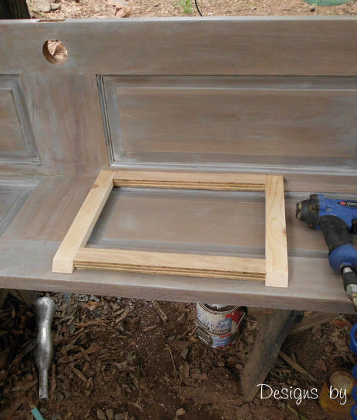 build a corner bookcase using a door, diy, how to, repurposing upcycling, woodworking projects, When attaching the shelf frame pieces I like to use spacers that way I can make sure every frame piece is evenly spaced and located correctly