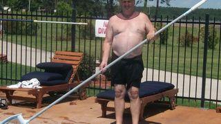 mulch in pool help, gardening, landscape, pool designs, Common pool boy