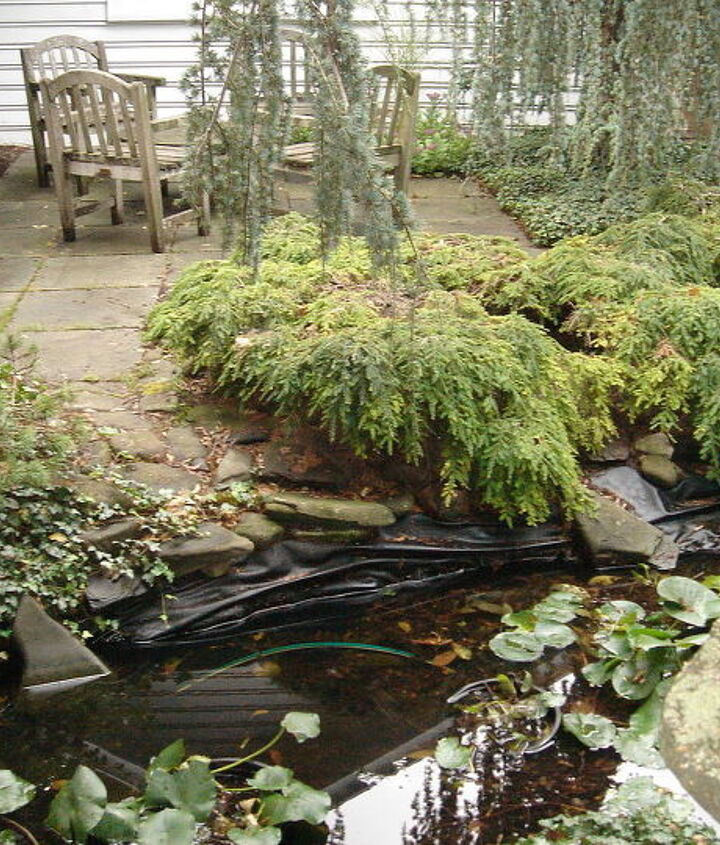 Fish Pond Repair by Acorn of Rochester NY