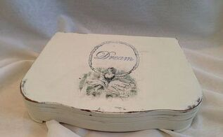 silverware box to keepsake box, crafts, repurposing upcycling, I added a gorgeous graphic of a vintage ballerina