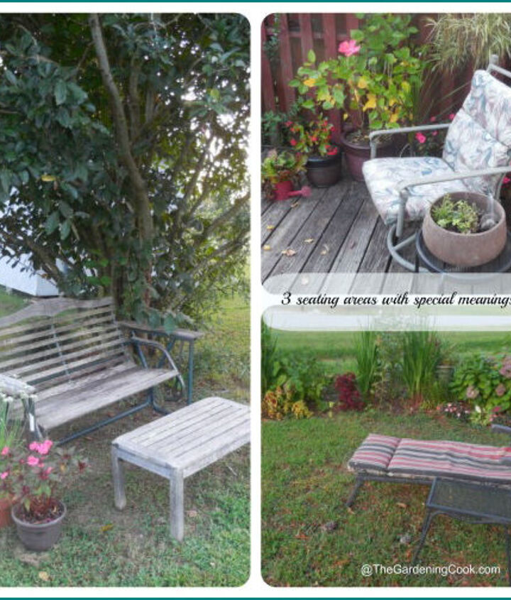 3 Special Spots, all with meaning - http://thegardeningcook.com/3-special-seating-areas/