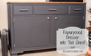 dresser repurposed into tool chest, painted furniture, repurposing upcycling, tools, Repurposed Dresser into Tool Chest