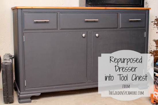 Dresser Repurposed Into Tool Chest Painted Furniture Repurposing Upcycling Tools