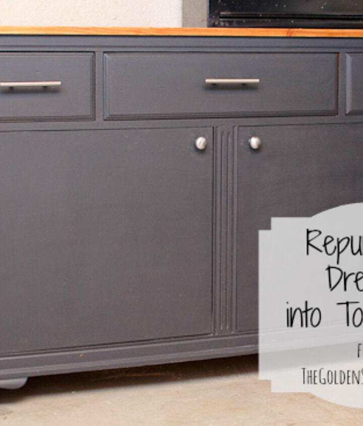 Repurposed Dresser into Tool Chest.