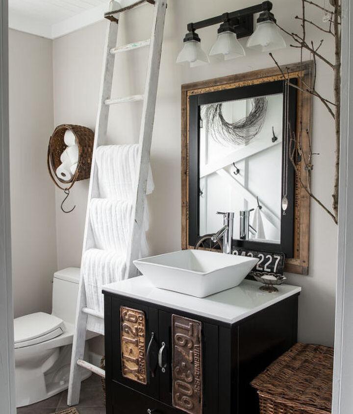 make your own farmhouse bathroom yourself, bathroom ideas, home decor