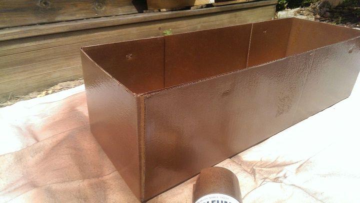Rust-oleum hammered copper.