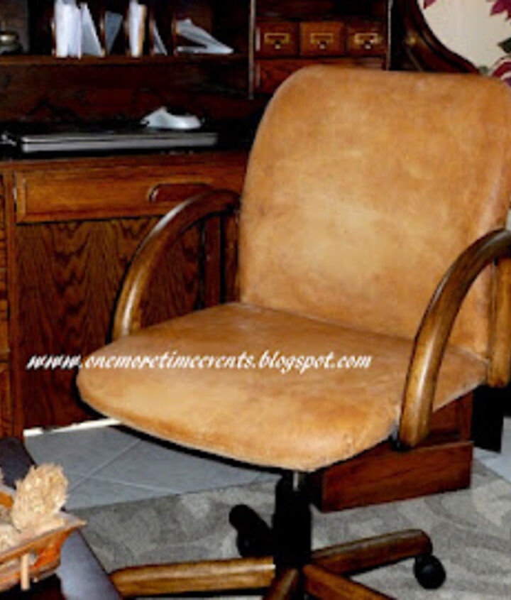 Faux Leather Chair After