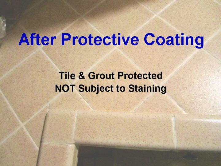 After Protective Coating: The adjacent tile and grout were sealed and protected with Self-Cleen ST3.  They are protected against mildew, staining, and bacteria growth.