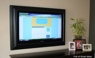 picture perfect tv how to make a flat screen tv frame with trim, diy, home decor, how to, After