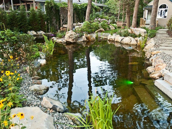 Large swimming pond