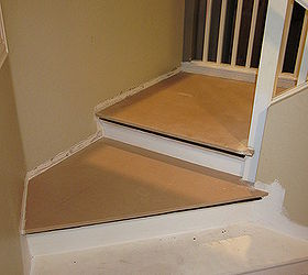 Removing Carpet From Stairs And Painting Them, Painting, Stairs, New MDF  Landing To