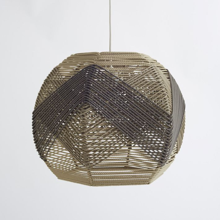 I LOVE West Elm's new Huron woven pendant, so...I decided to make my own!