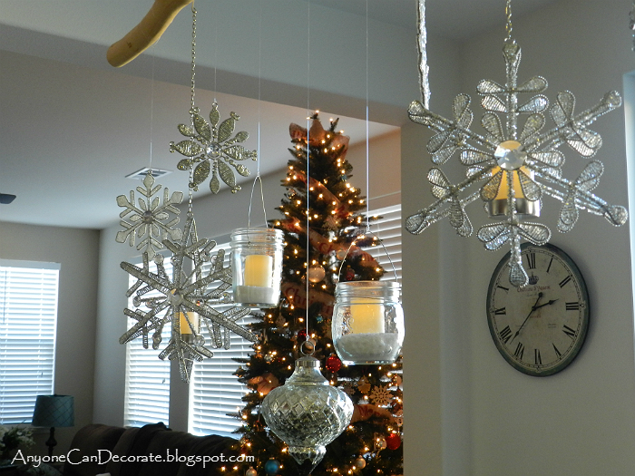 diy christmas ornament and mason jar chandelier christmas decorations crafts mason jars
