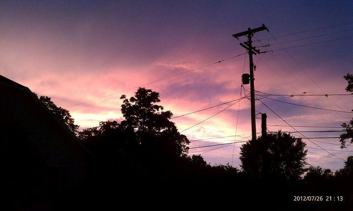 The sky was so pretty last night too!