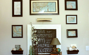 A Handmade Curiosity Cabinet and A Gallery Wall of Vintage Maps