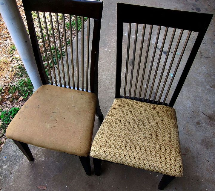 Our old kitchen chairs that I wanted to get rid of! So gross!
