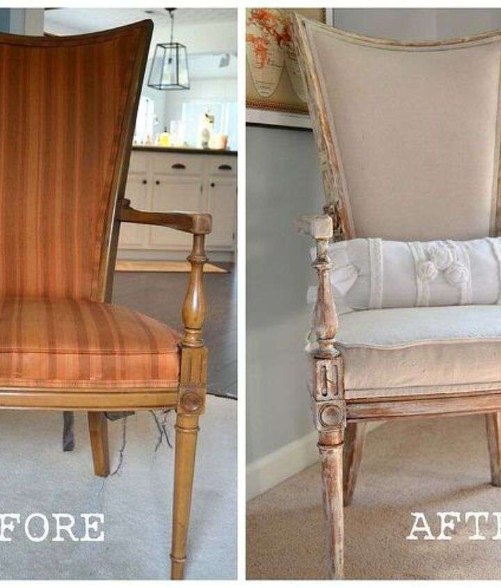 This was my grandparent's vintage chair.  The fabric was outdated, so I decided to reupholster it.
