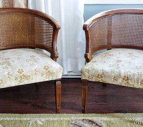 Cane Chairs Upholstered Finally, Painted Furniture, Reupholster, The Before Cane  Chairs Purchased From