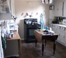 q the lone stove a much needed mini kitchen makeover on a serious budget, home decor, kitchen design, my lone kitchen on a wall by itself
