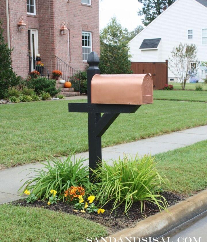 Copper mailbox makeover