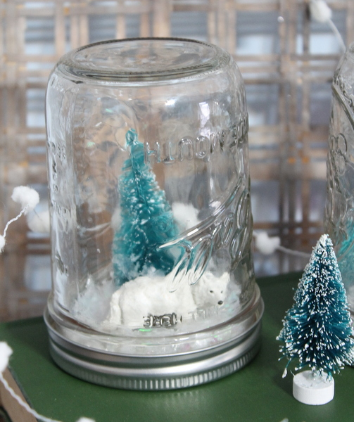 Add in some mini animals for your snow globe scenes.  http://www.craftsunleashed.com/index.php/seasonal/homemade-snow-globes/