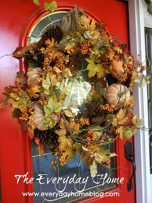 I can't take credit for this wreath. I usually make my own, but this one stole my heart when I saw it.