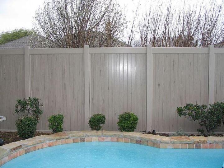 This is a Privacy Vinyl Fence