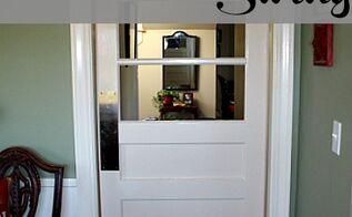 how to make your door swing, doors, painted furniture, To make your door swing you ll need a swinging door spring hinge set I ordered mine on line