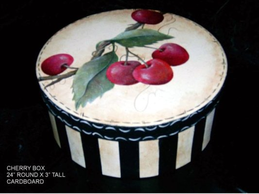 Cherry Paper Mache Box by GranArt