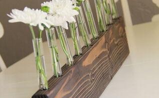 diy bud vase centerpiece, crafts, flowers, Bud Vase Centerpiece
