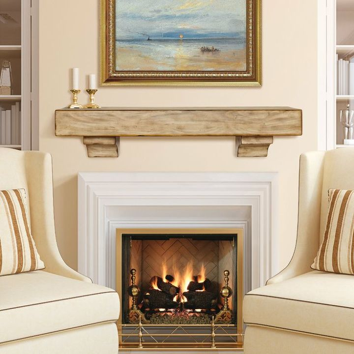 q what color should i paint our fireplace surround, fireplaces mantels, home decor, painting, I also like the look of this distressed wood