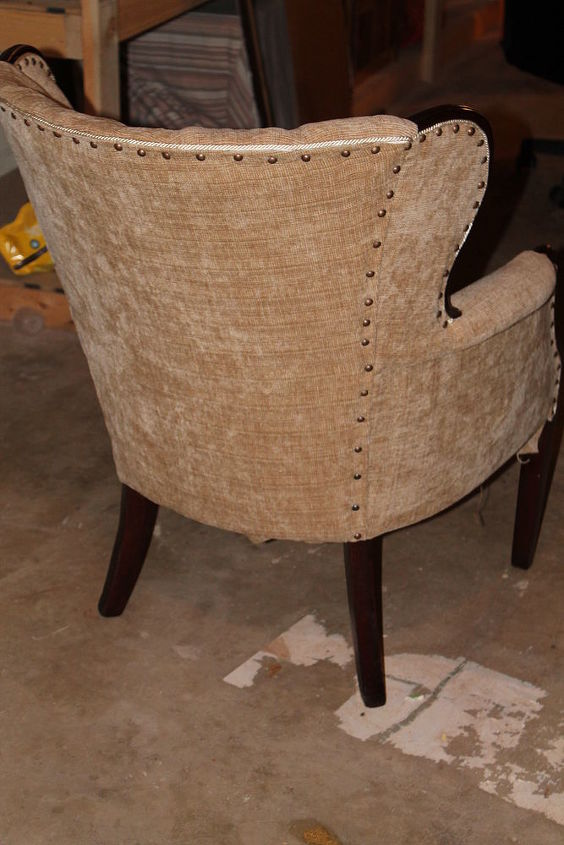 lost in a shed, painted furniture, reupholster