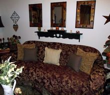 living room d cor on a shoestring budget all second hand lions, fireplaces mantels, home decor, living room ideas, The side wall my couch is on