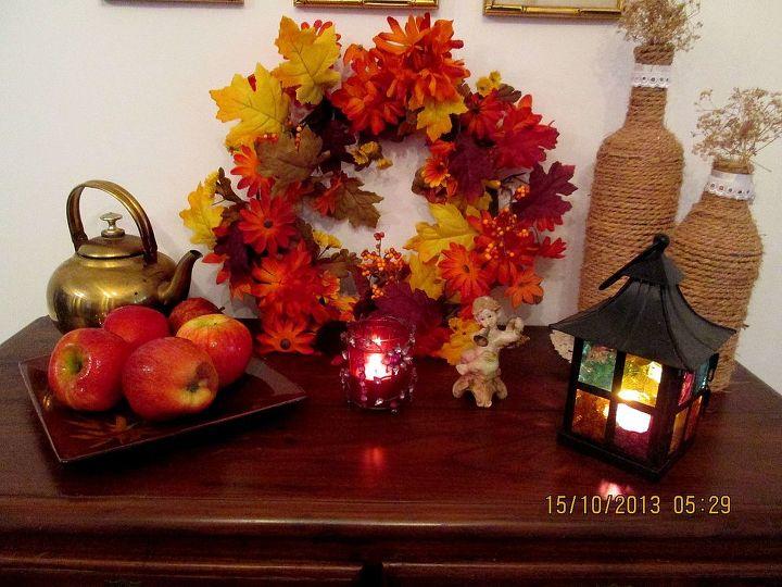 my fall mantel, seasonal holiday d cor