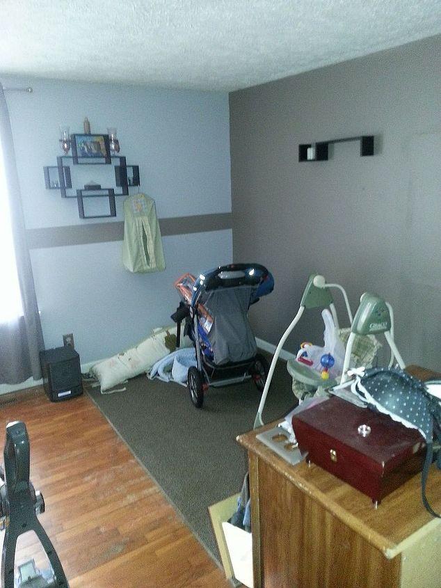 nursery room redo, bedroom ideas, diy, home decor, painting