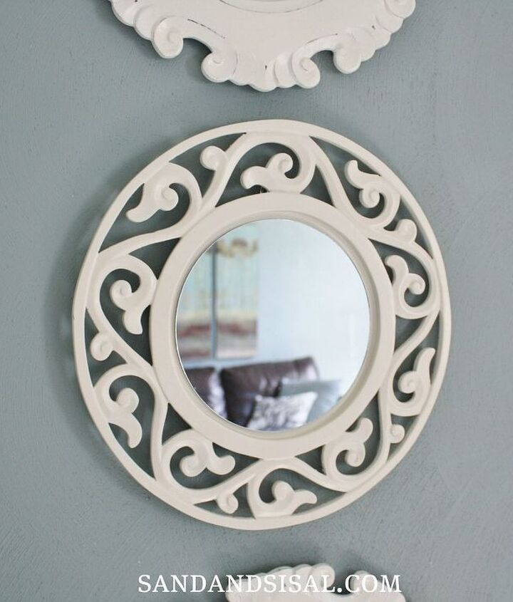 Turn a plate charger into a mirror. So easy!