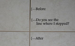 the absolute best way to clean grout 4 methods tested 1 clear winner, cleaning tips, Before and After