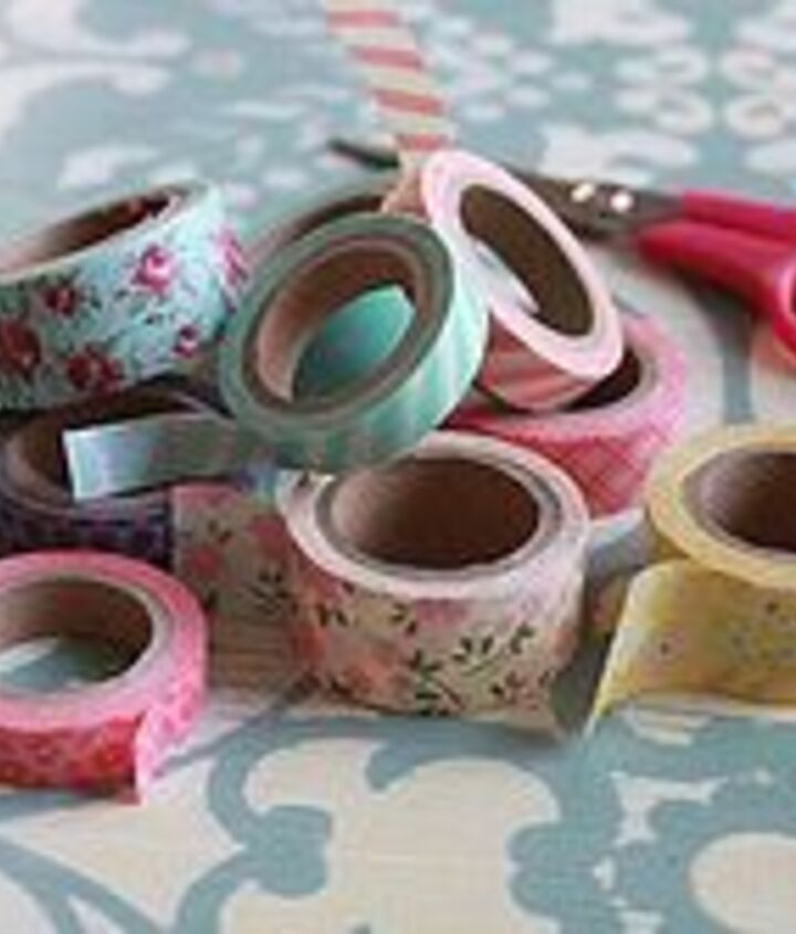 Materials: Washi Tape, Scissors, Jars or Bottles, Water, Flowers